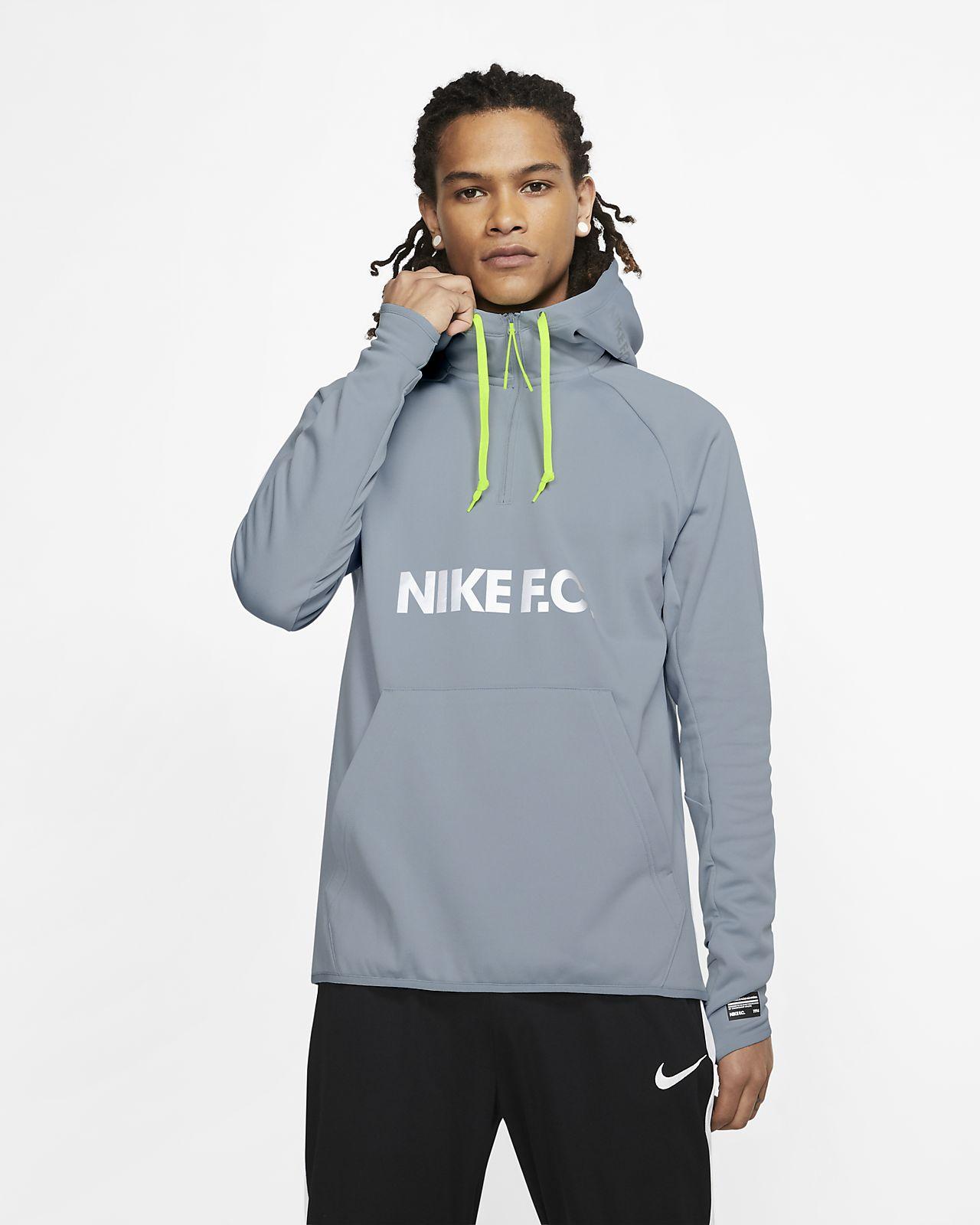 Felpa da calcio con cappuccio Nike F.C.