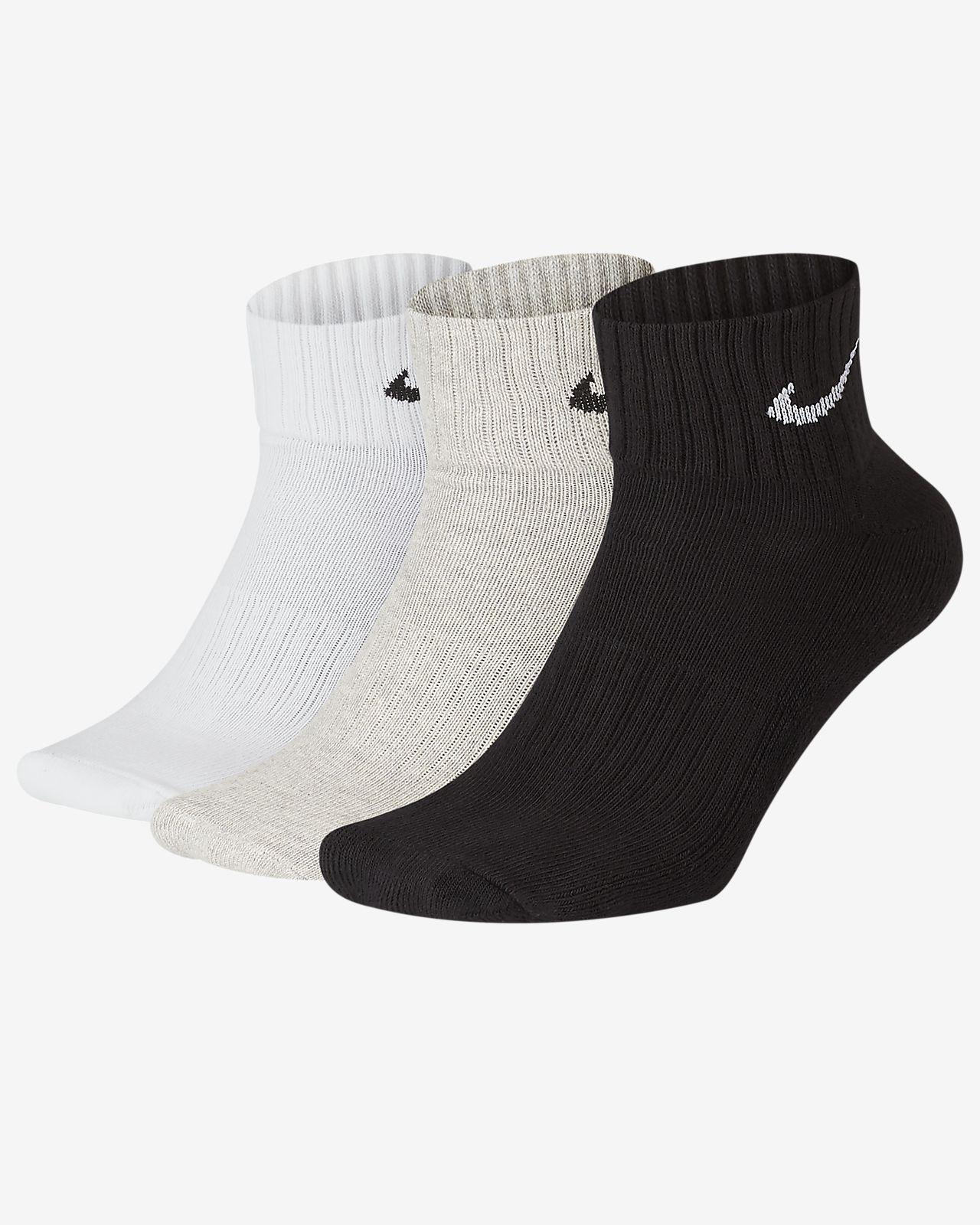 Meias de treino pelo tornozelo Nike Cushion (3 pares)
