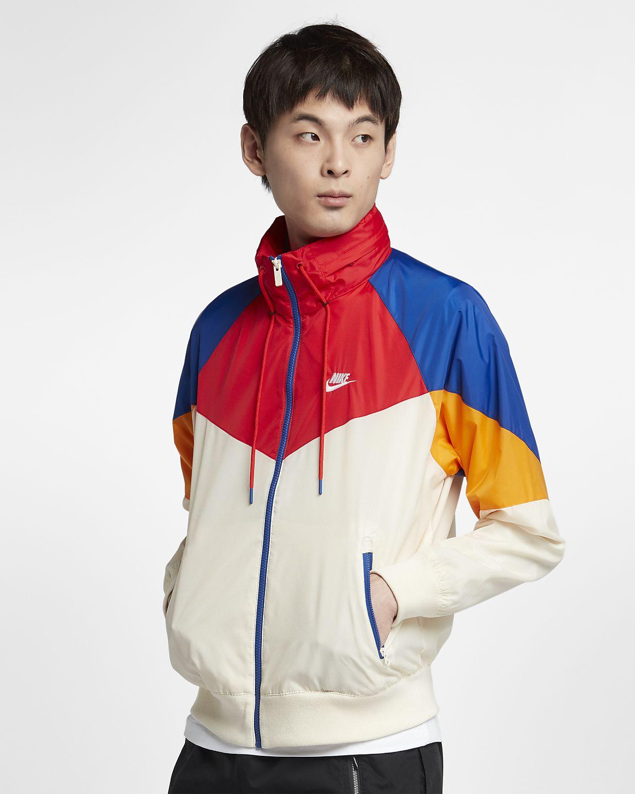 เสื้อแจ็คเก็ตมีฮู้ดผู้ชาย Nike Sportswear Windrunner