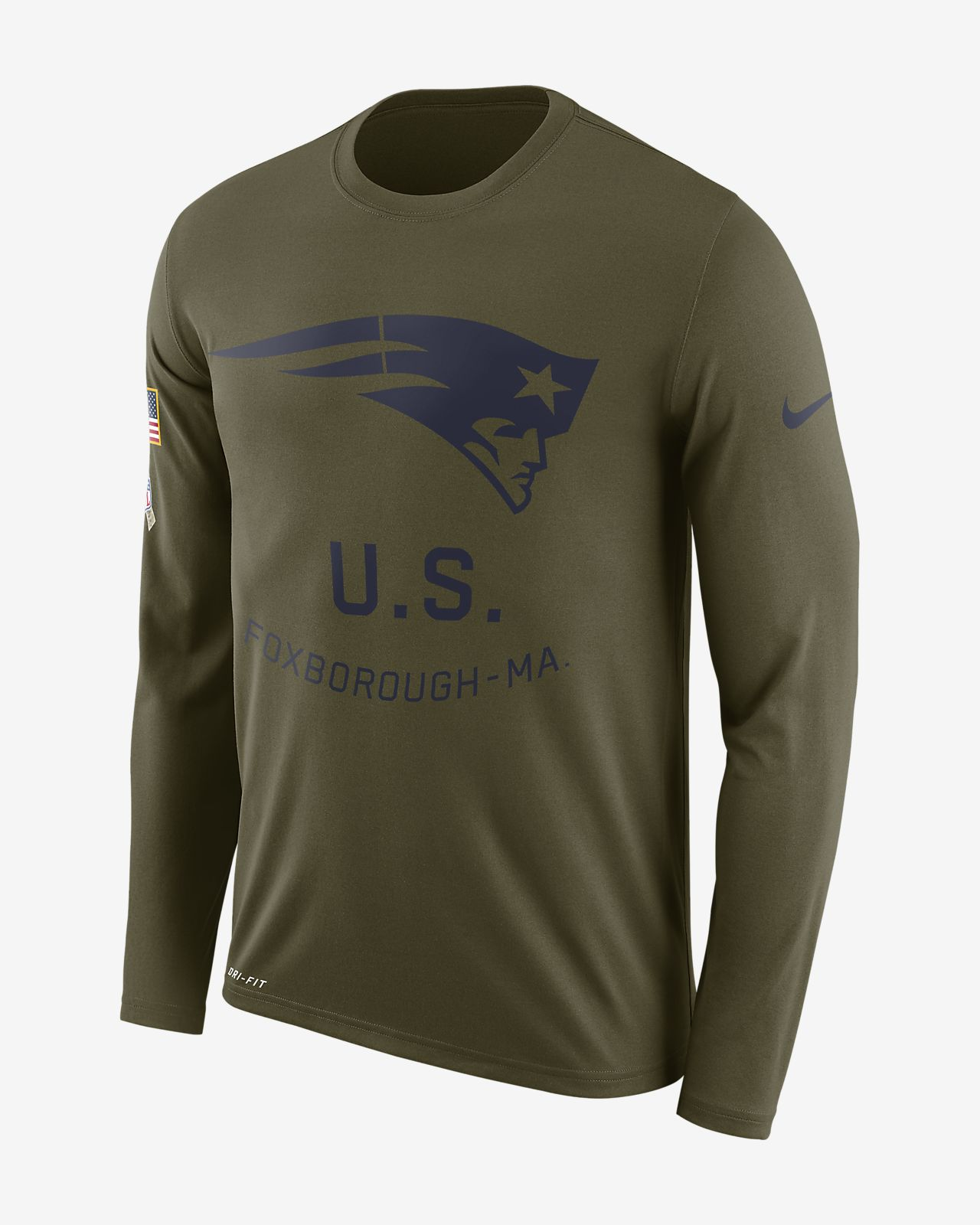 Men s Long-Sleeve T-Shirt. Nike Legend Salute to Service (NFL Patriots) daef39bfb