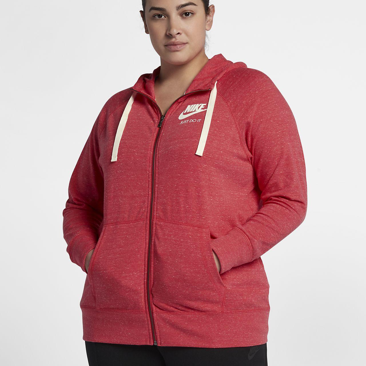 ... Nike Sportswear Gym Vintage (Plus Size) Women's Full-Zip Hoodie