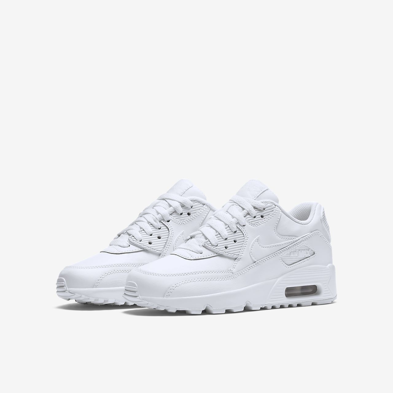 finest selection a770a 97fae ... Nike Air Max 90 Leather Big Kids  Shoe