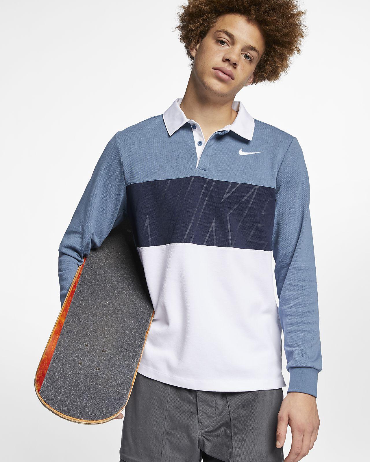749a0f2b184d Ανδρική μακρυμάνικη μπλούζα πόλο για skateboarding Nike SB Dri-FIT ...