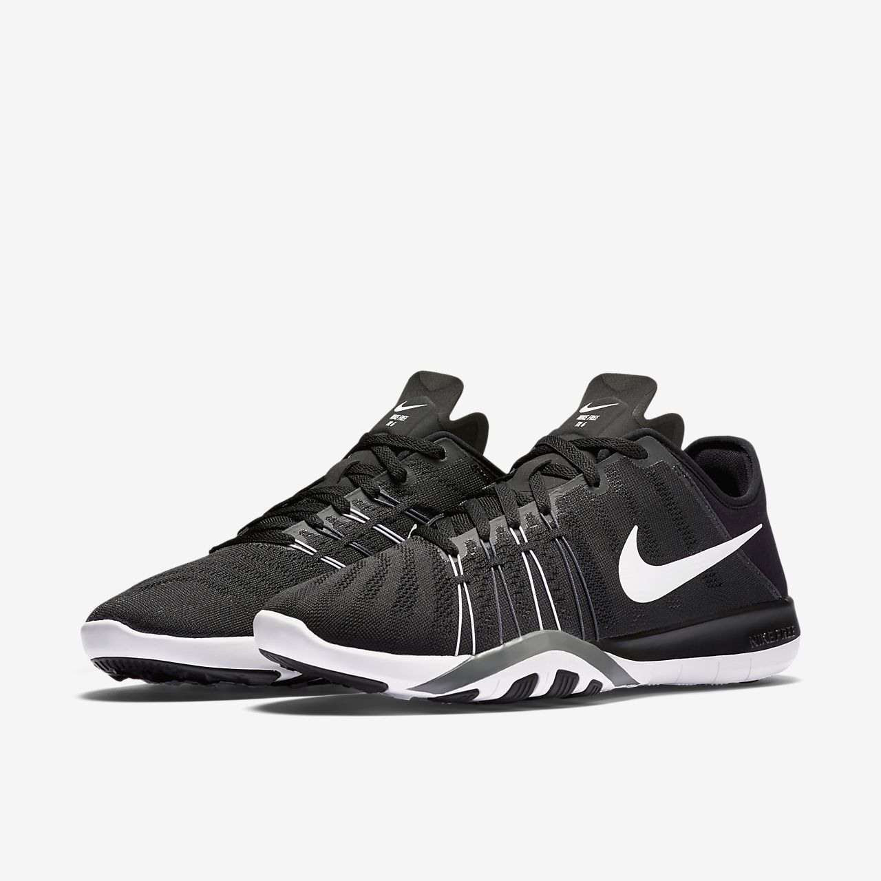 Nike Free 6 Black White Womens Running Shoes