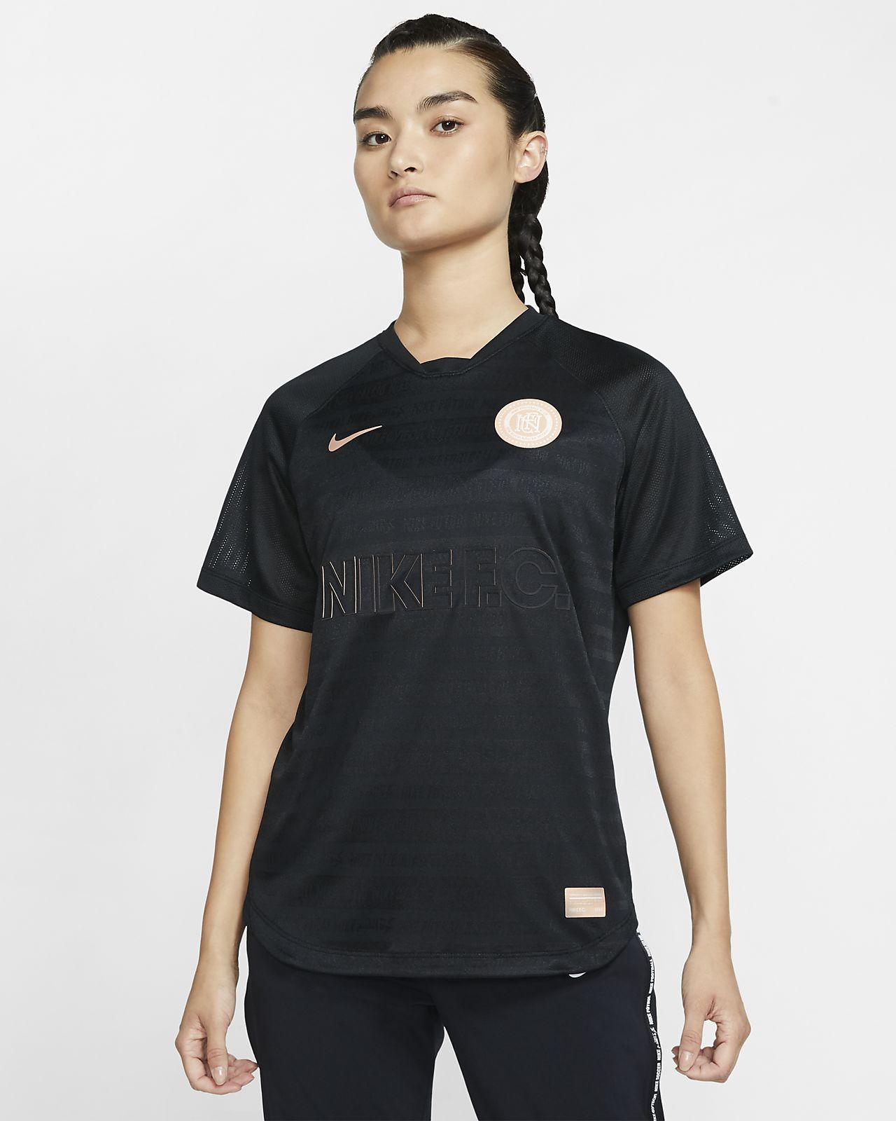 Camiseta de fútbol para mujer Nike F.C. Dri-FIT