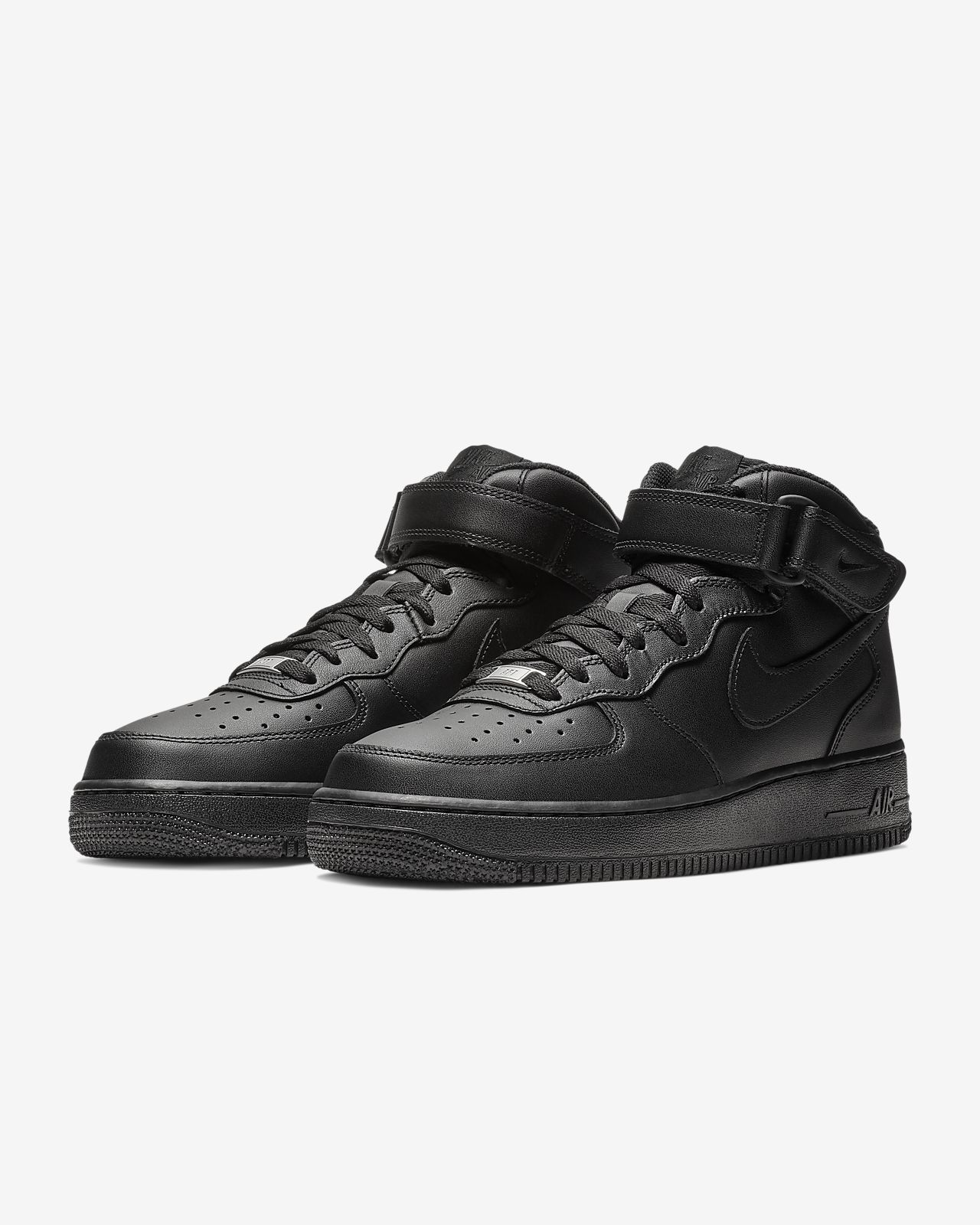 nike air force 1 mid grey black