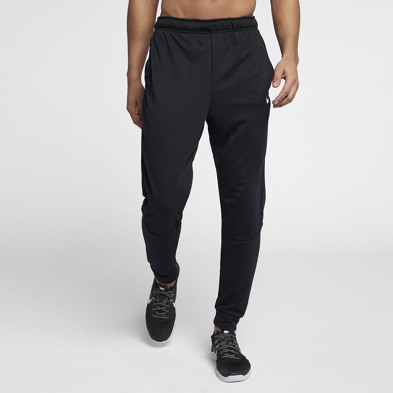 Nike Dri FIT faconsyede træningsbukser i fleece til mænd