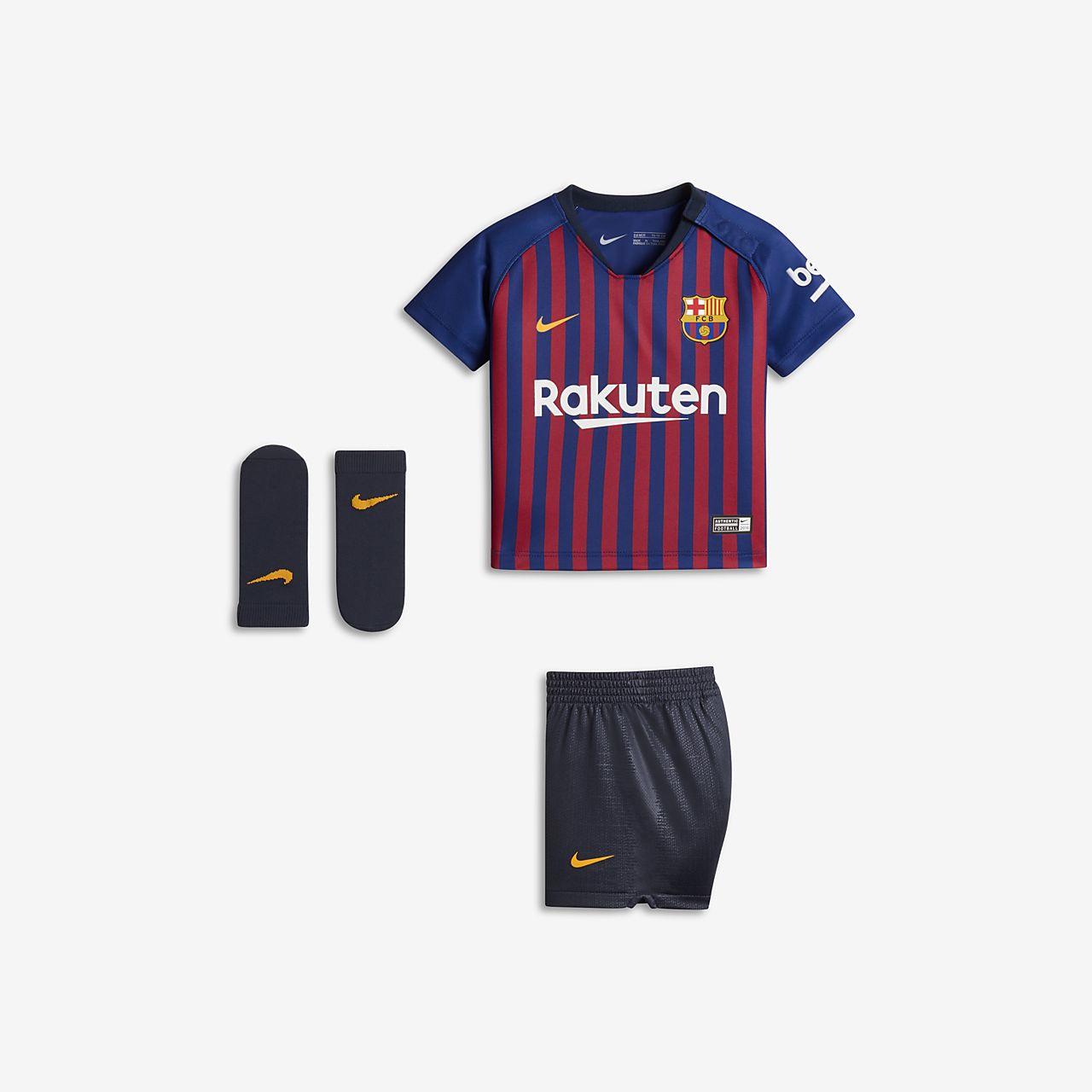 Uniforme de fútbol para bebé 2018 19 FC Barcelona Stadium Home. Nike ... ff0a566fe34