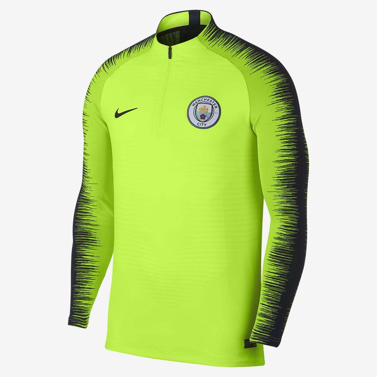 Мужская игровая футболка с длинным рукавом Manchester City FC VaporKnit Strike Drill