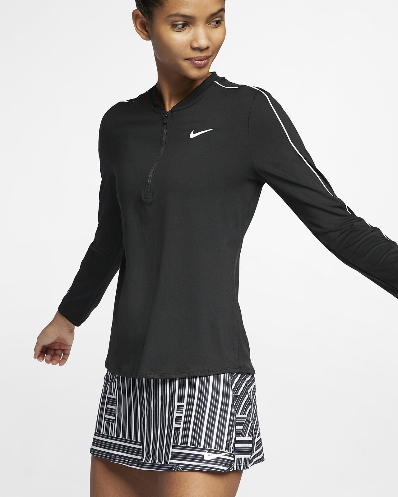 Top da tennis con zip a metà lunghezza NikeCourt Dri-FIT - Donna