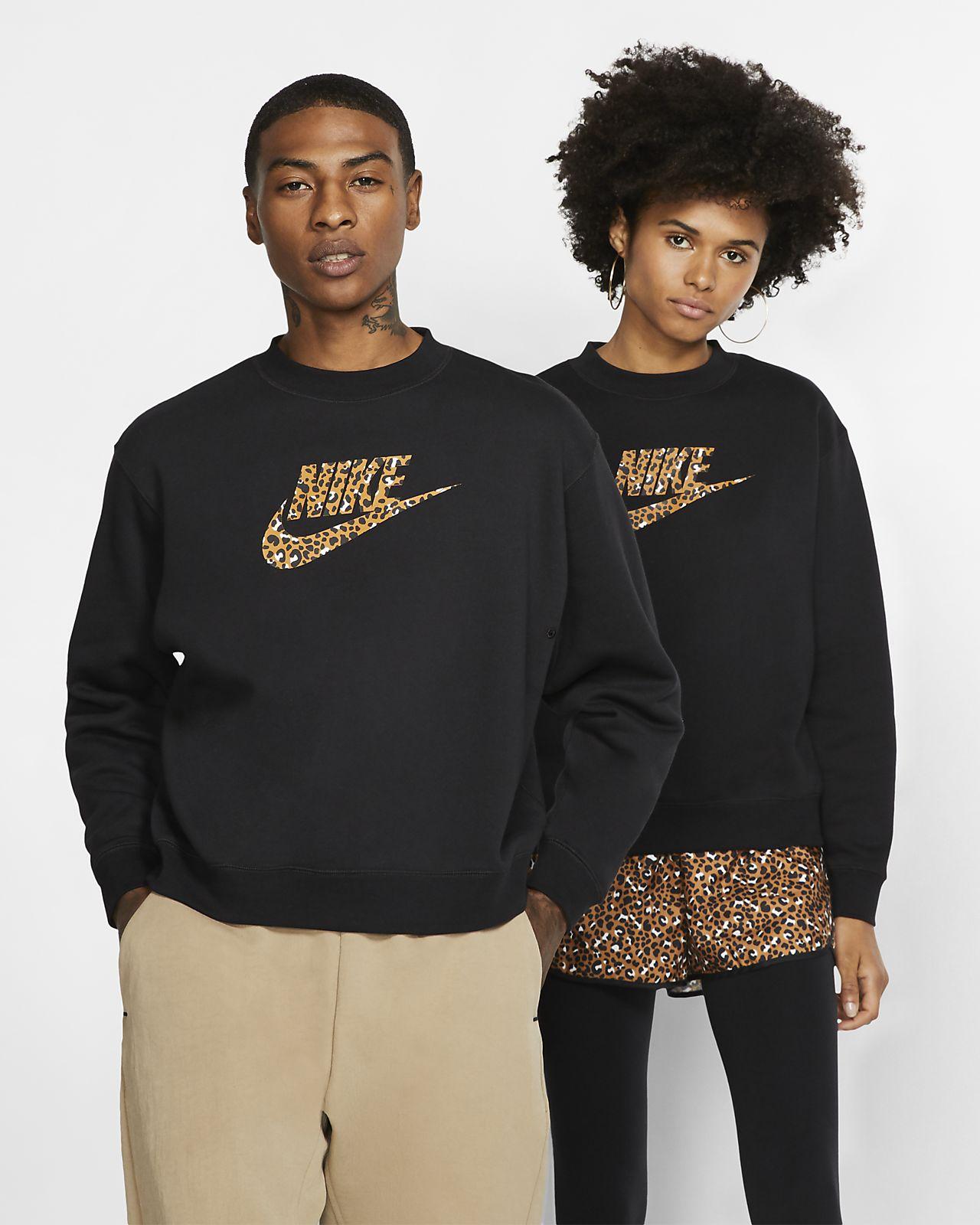 Nike Sportswear Animal Print Shirt met ronde hals
