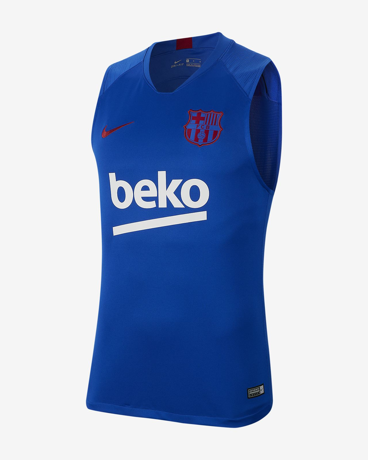 Męska koszulka piłkarska z krótkim rękawem Nike Breathe FC Barcelona Strike