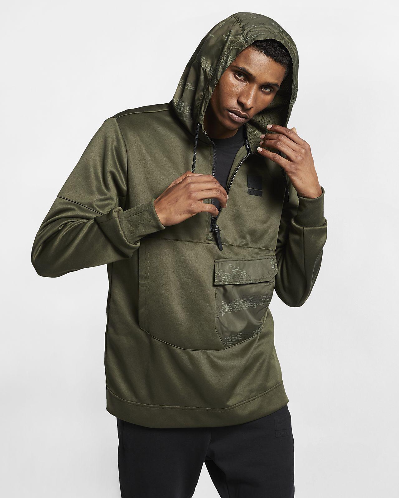 Sudadera con capucha de medio cierre para hombre Nike Air Max