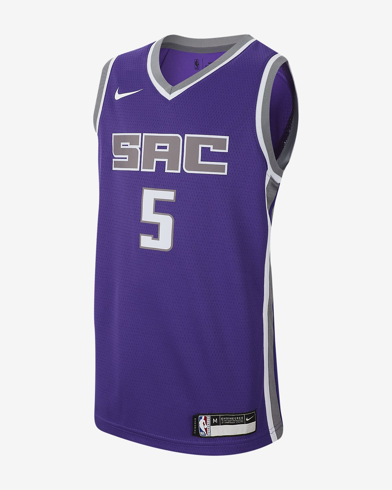 De'Aaron Fox Icon Swingman Edition (Sacramento Kings) Big Kids' Nike NBA Jersey