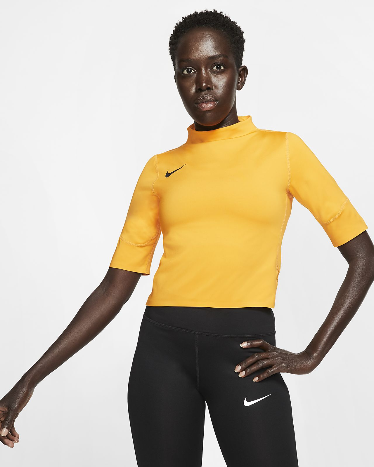 Top da running a manica corta Nike - Donna