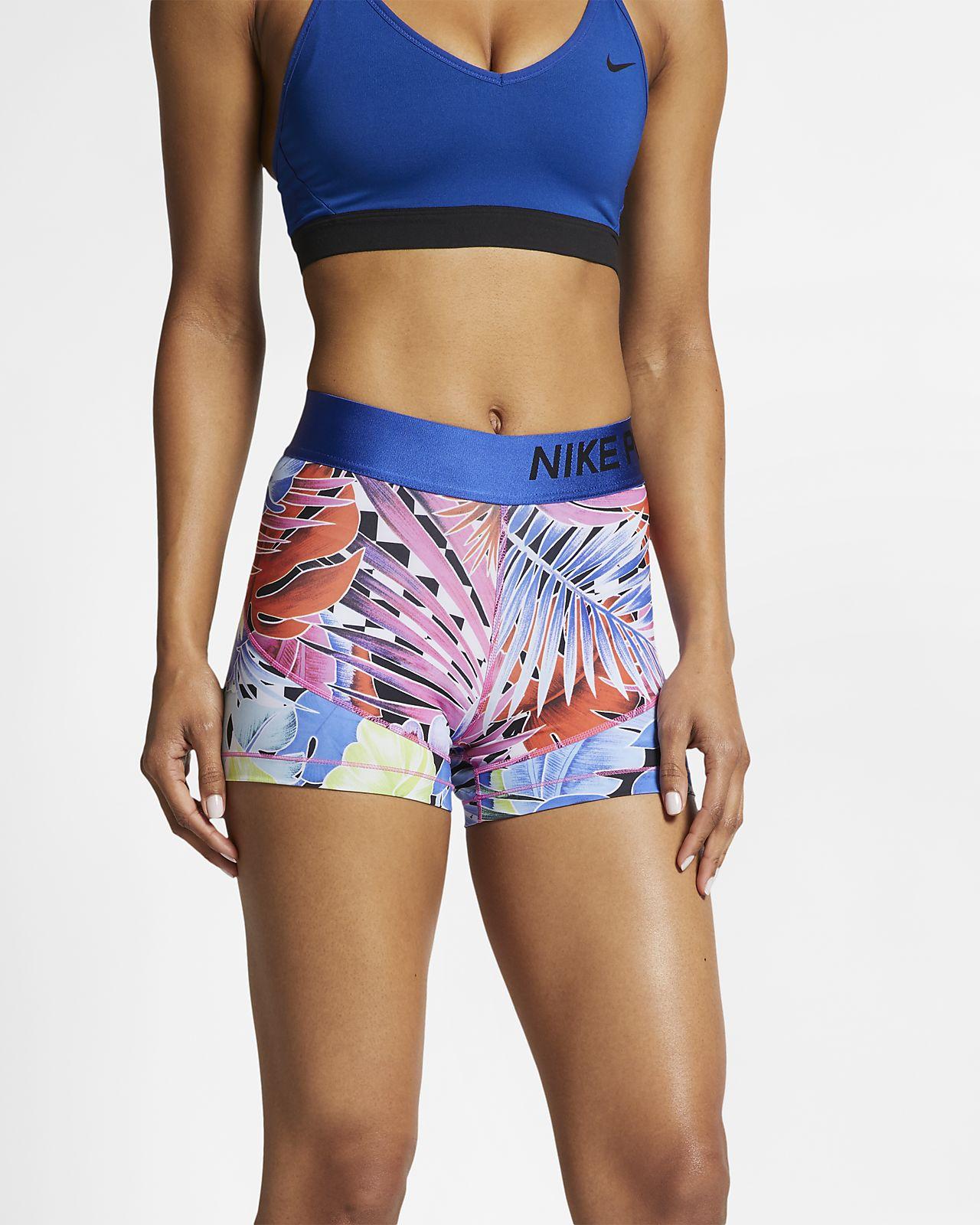 Nike Pro 7,5 cm-es női mintás rövidnadrág