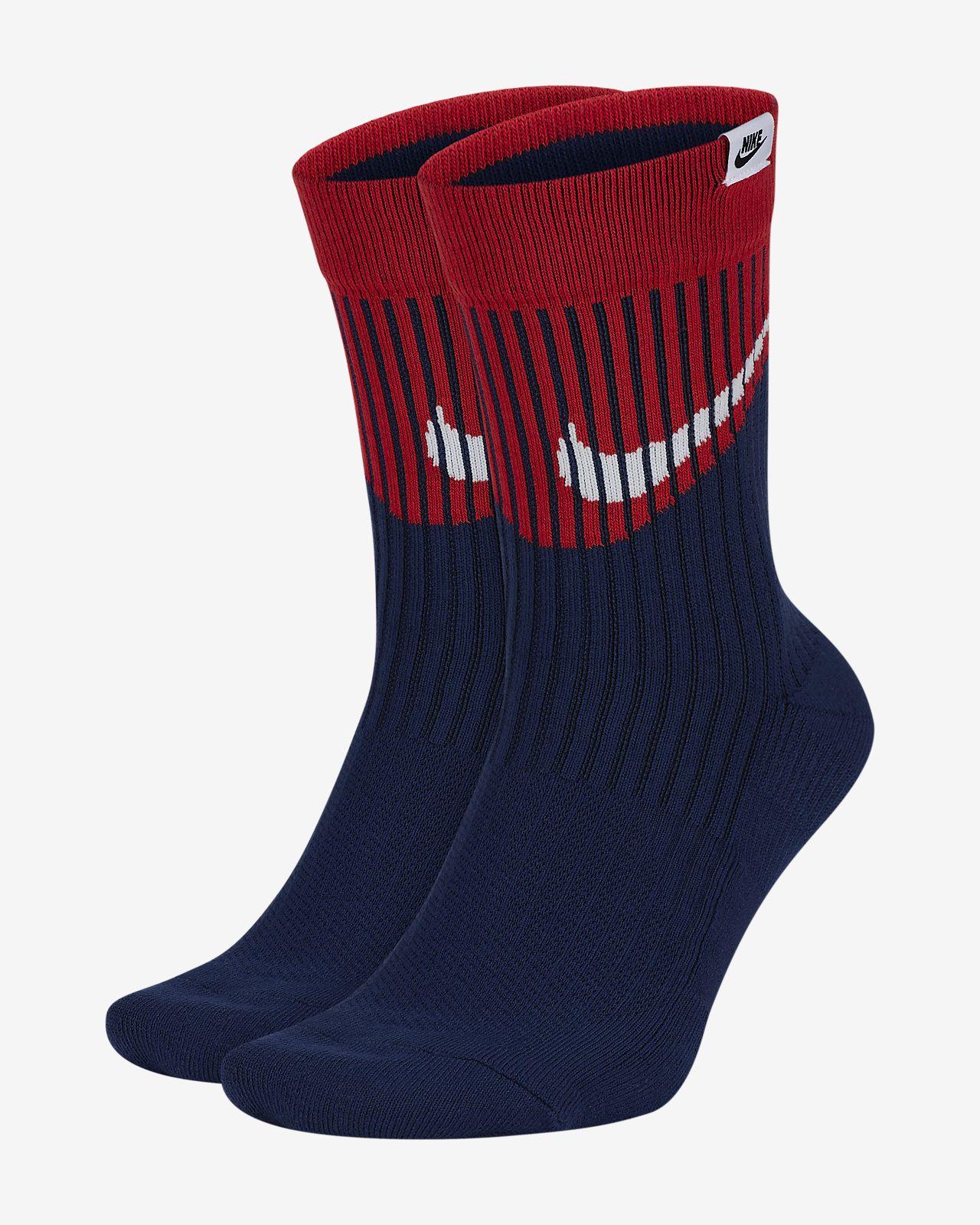 ถุงเท้าข้อยาว Nike SNKR Sox Swoosh (2 คู่)