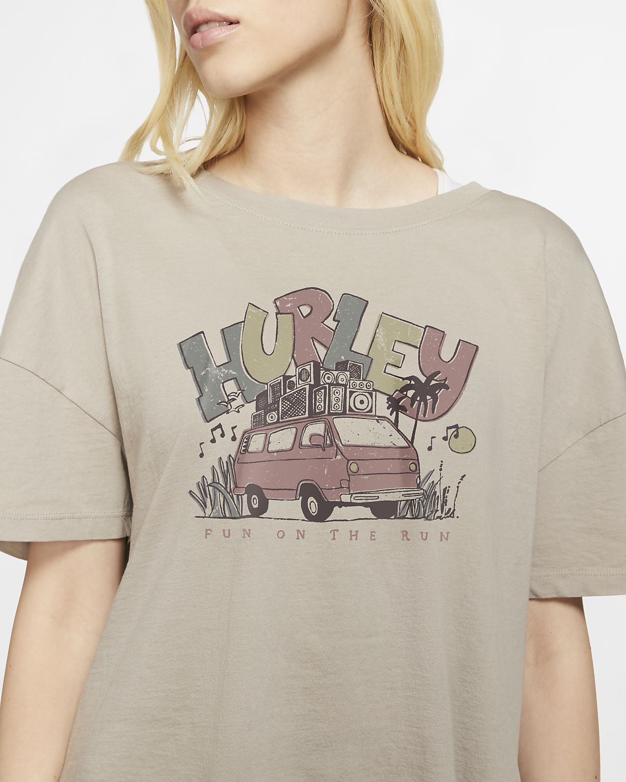 T-shirt Hurley Van Vibes Flouncy Tee para mulher