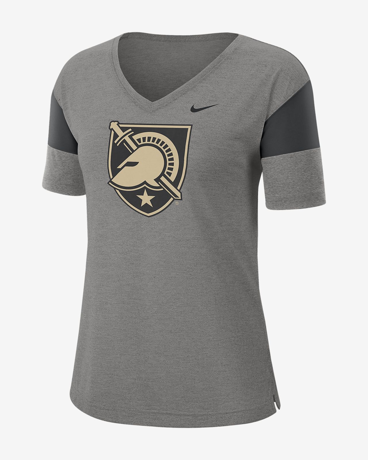 Nike College Breathe (Army) Women's Short-Sleeve V-Neck Top