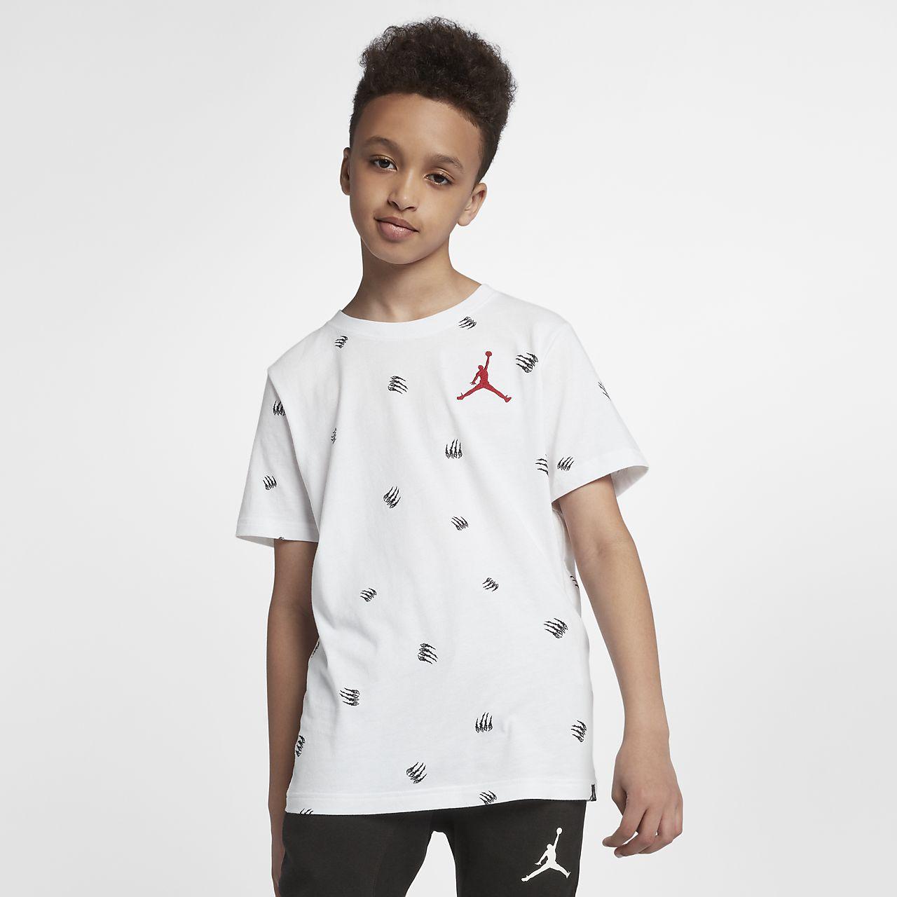 Tee-shirt Jordan Sportswear Black Cat pour Garçon plus âgé