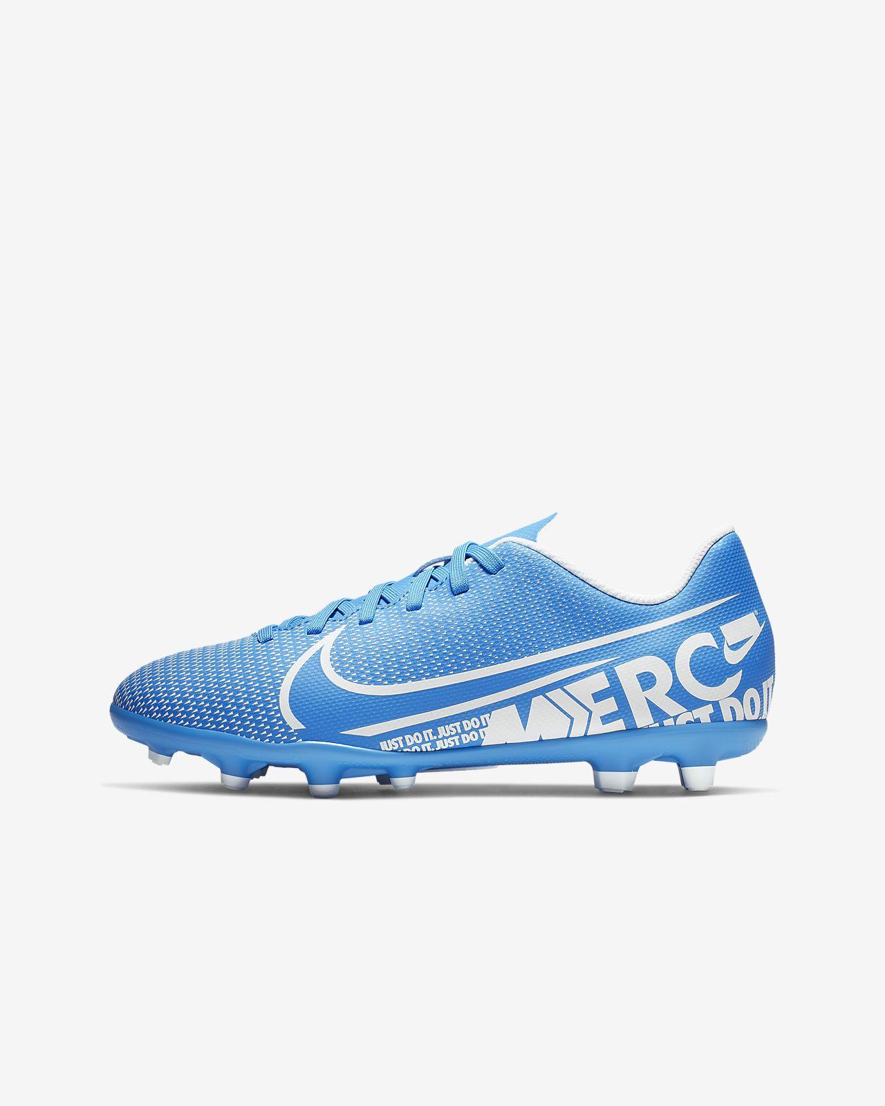 รองเท้าสตั๊ดฟุตบอลเด็กเล็ก/โตสำหรับพื้นหลายประเภท Nike Jr. Mercurial Vapor 13 Club MG