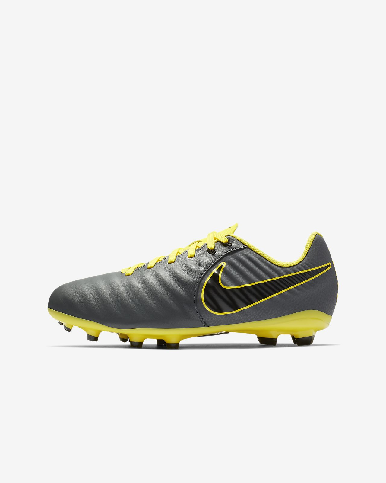 Calzado de fútbol para terreno firme para niños de talla pequeña/grande Nike Jr. Legend 7 Academy FG