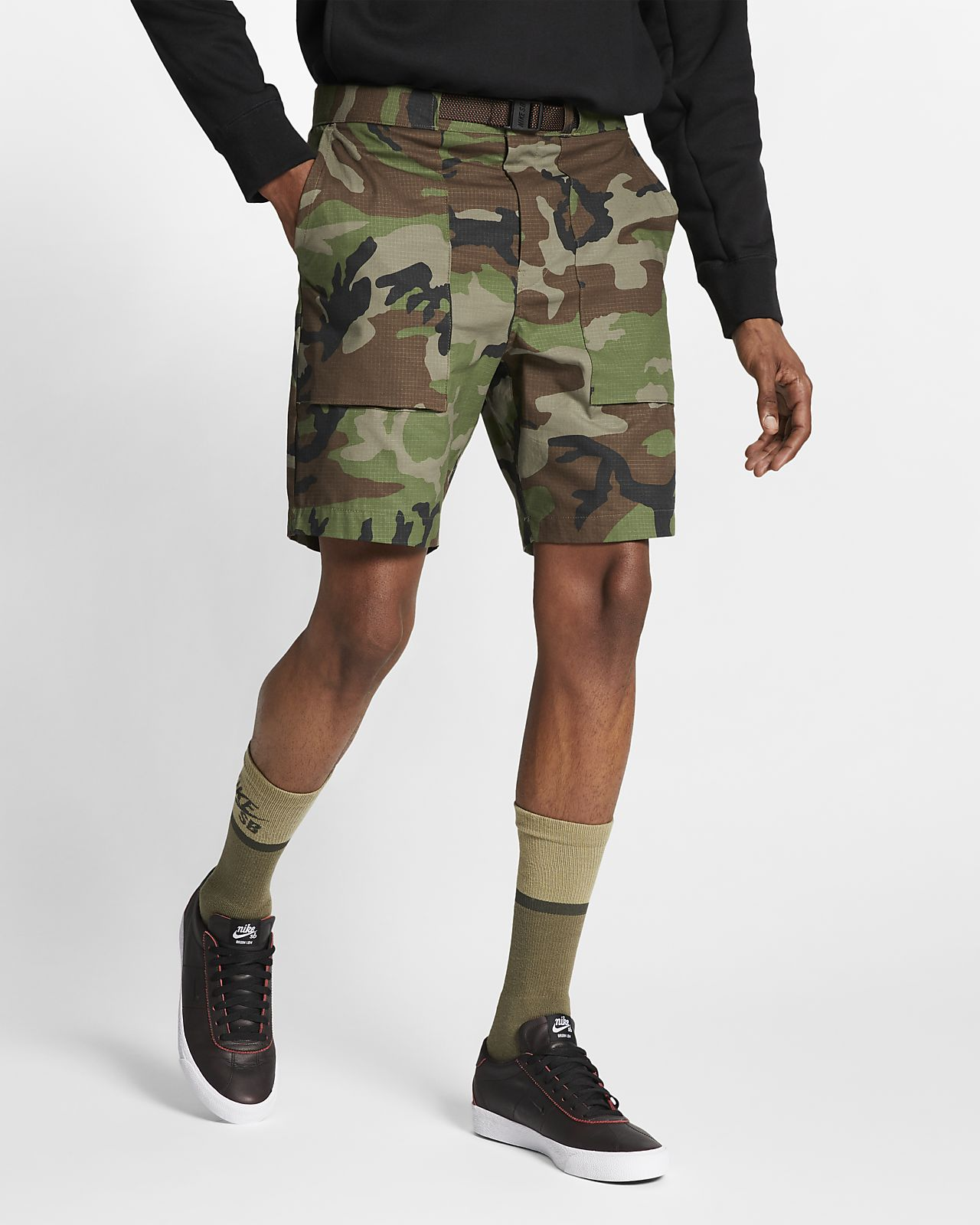 Nike SB 男子迷彩滑板短裤