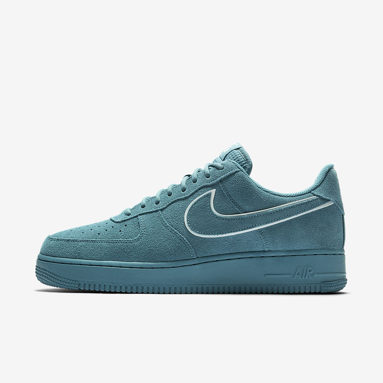Nike Air Force 1 '07 LV8 Suede Mens AA1117-400 Noise Aqua Blue Shoes Size 10
