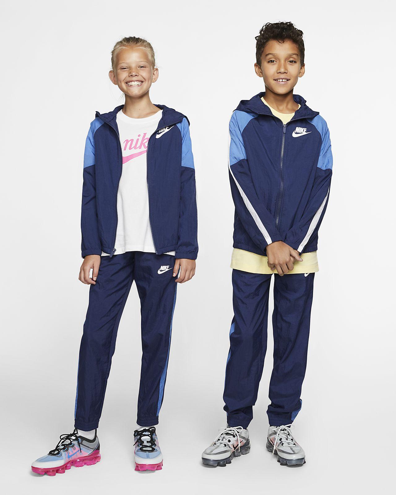 Tkaná tepláková souprava Nike Sportswear pro větší děti (chlapce)