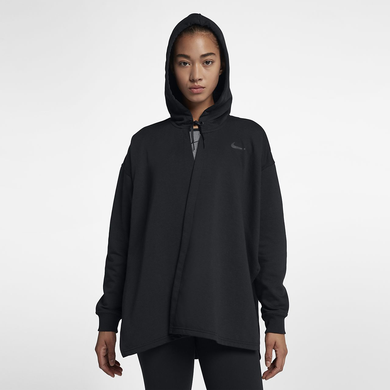Nike Womens Hoodie - Nike Hurley Dri-FIT Fleece Pullover Black N44r9138