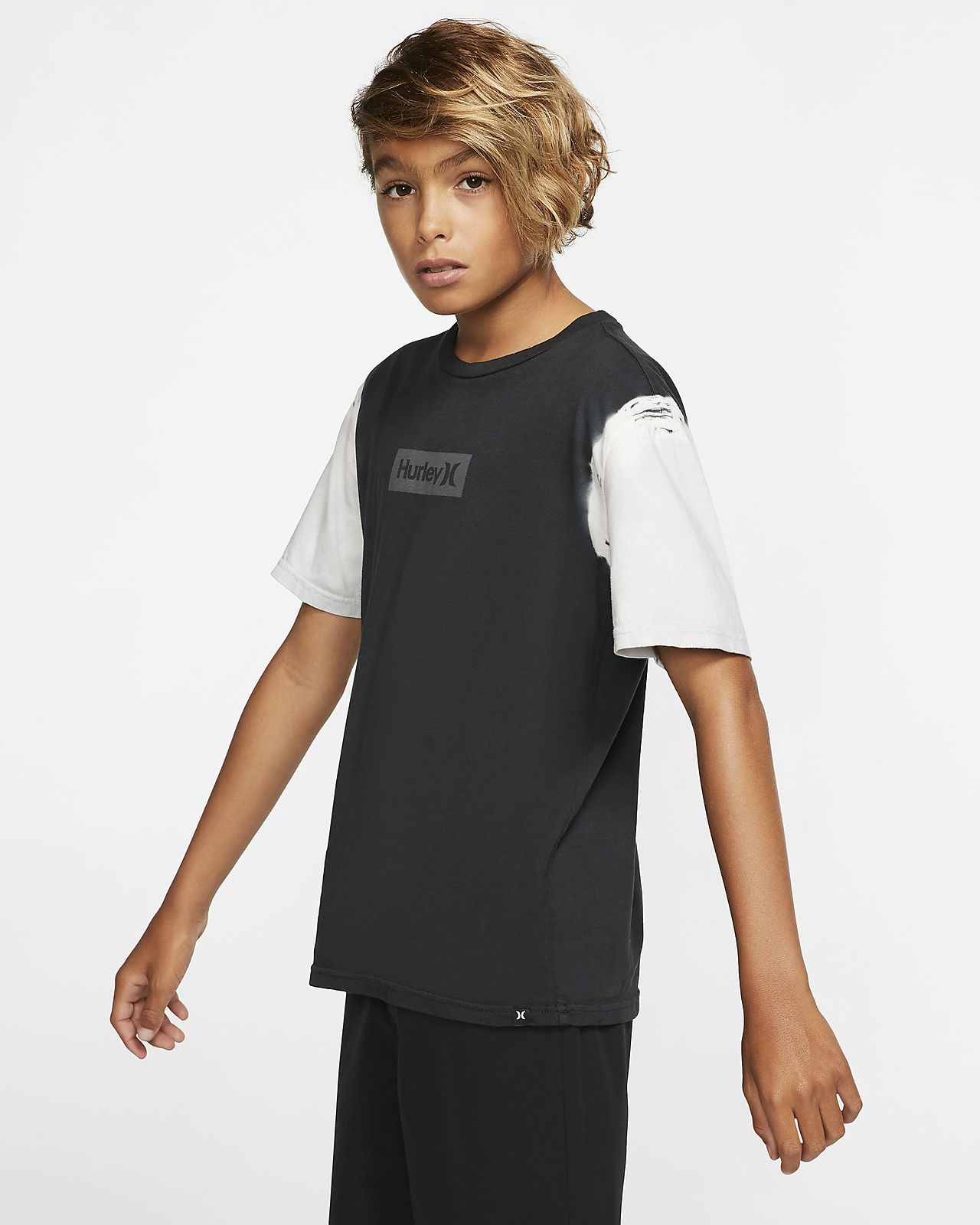 Hurley One And Only Small Box Dip Dye Boys' T-Shirt
