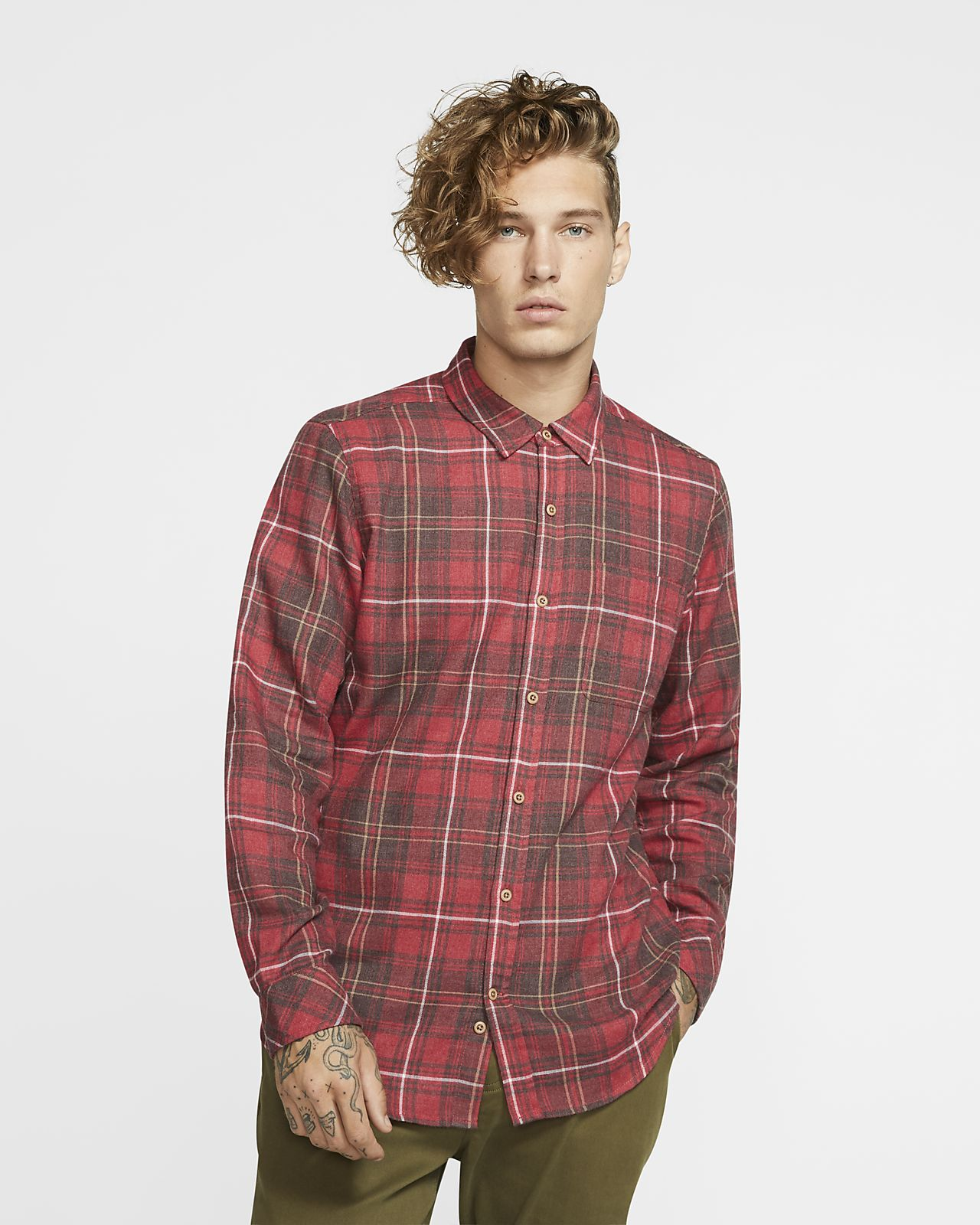 Hurley Vedder Washed Part superior de màniga llarga - Home