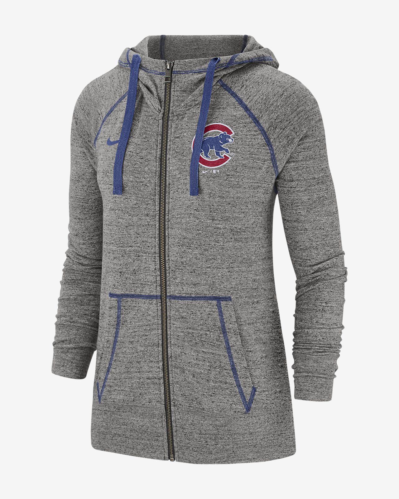 Nike Gym Vintage (MLB Cubs) Women's Full-Zip Hoodie