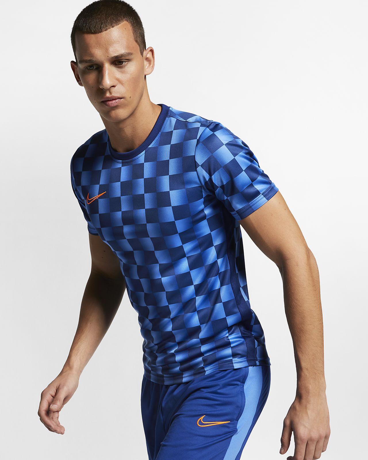 Nike Dri-FIT Academy 男款印花短袖英式足球上衣