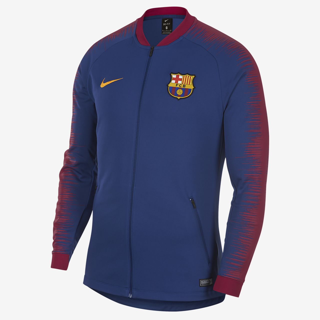Pánská fotbalová bunda FC Barcelona Anthem. Nike.com CZ 7b362f8c78a