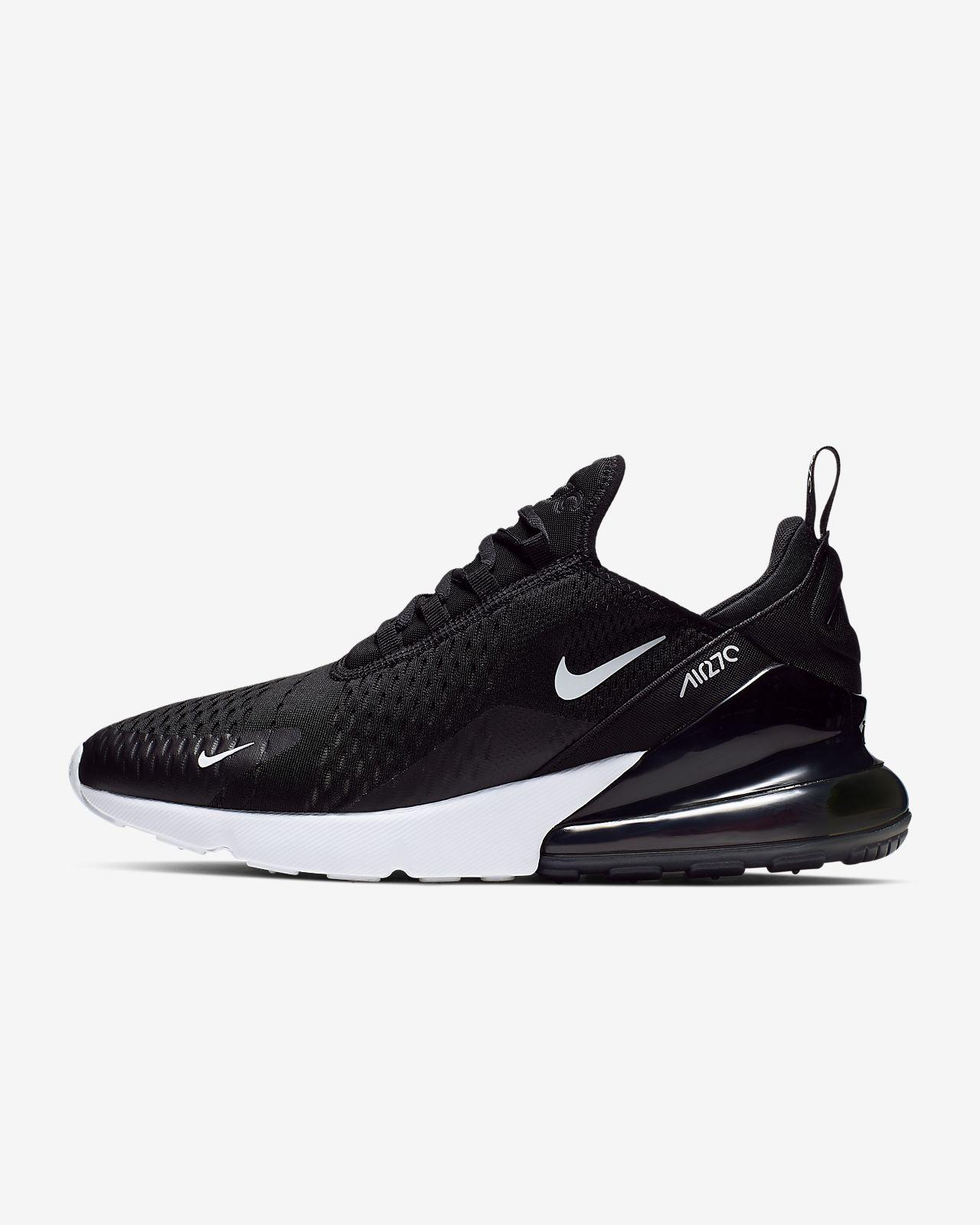 Boys Nike Air Max 270 Lifestyle Shoes Promo BlackRedWhite