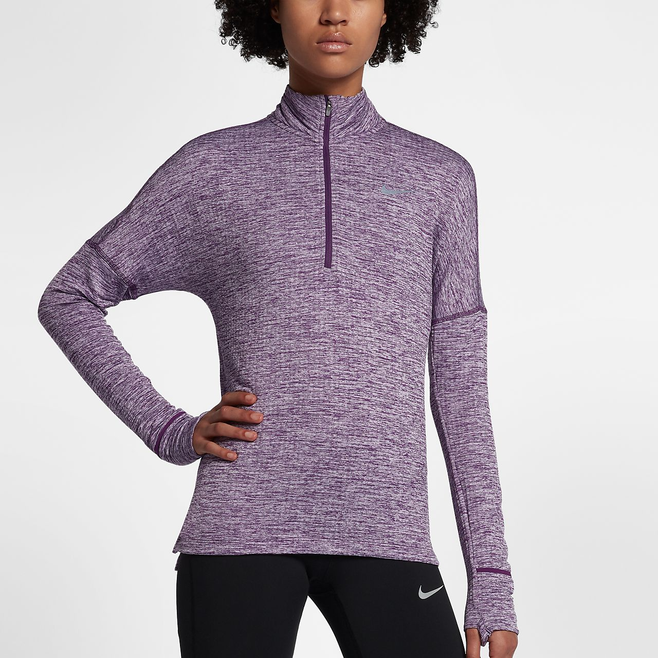 Nike Therma Sphere Element Camiseta de running de manga larga con media cremallera - Mujer