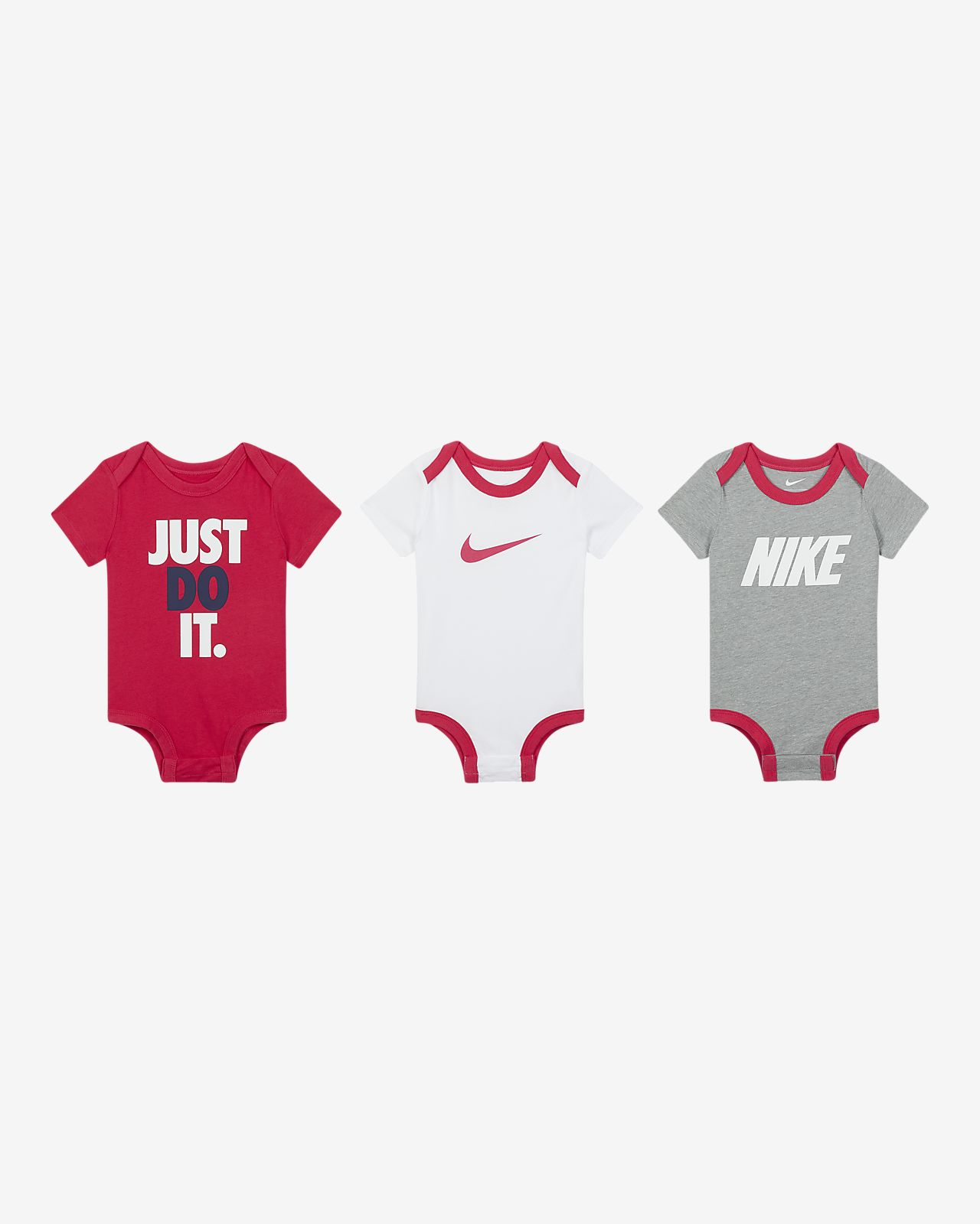 Nike-body til babyer (0-9 mdr.) (3-pak)