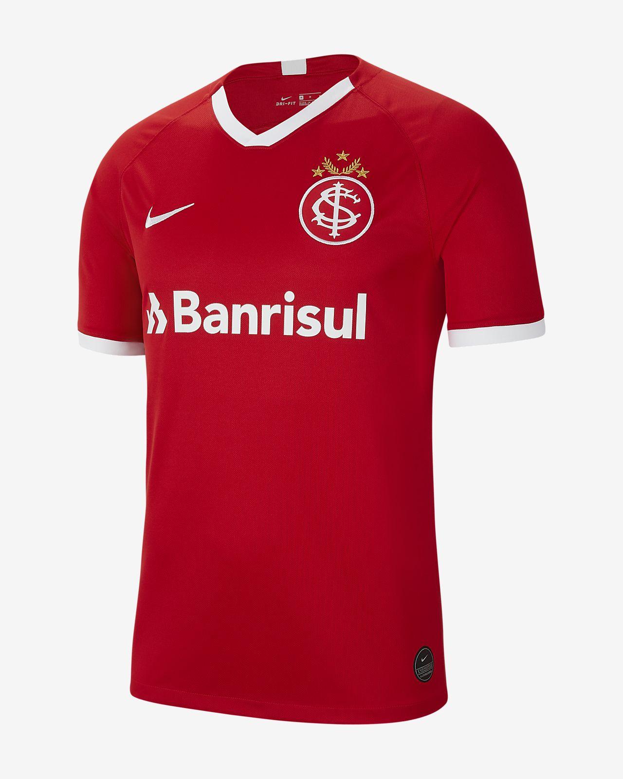Męska wyjazdowa koszulka piłkarska S.C. koszulka piłkarska S.C. Internacional 2019/20 Stadium Home
