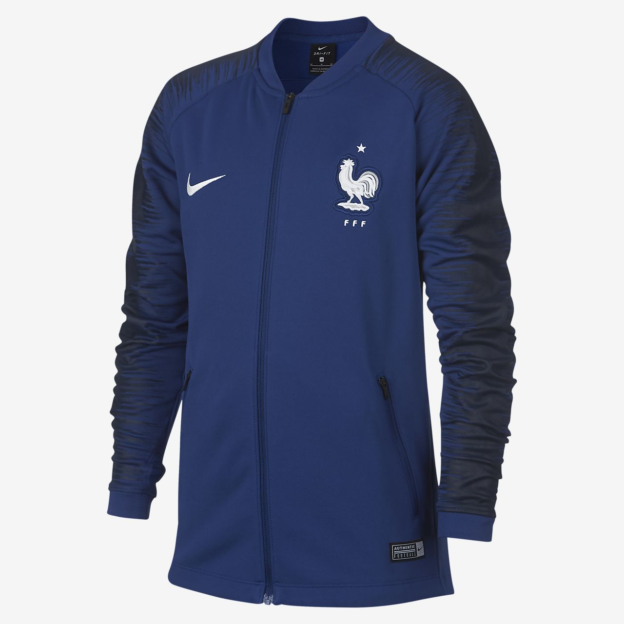 Nike Women's Academy Poly Jacket Royal Blue White