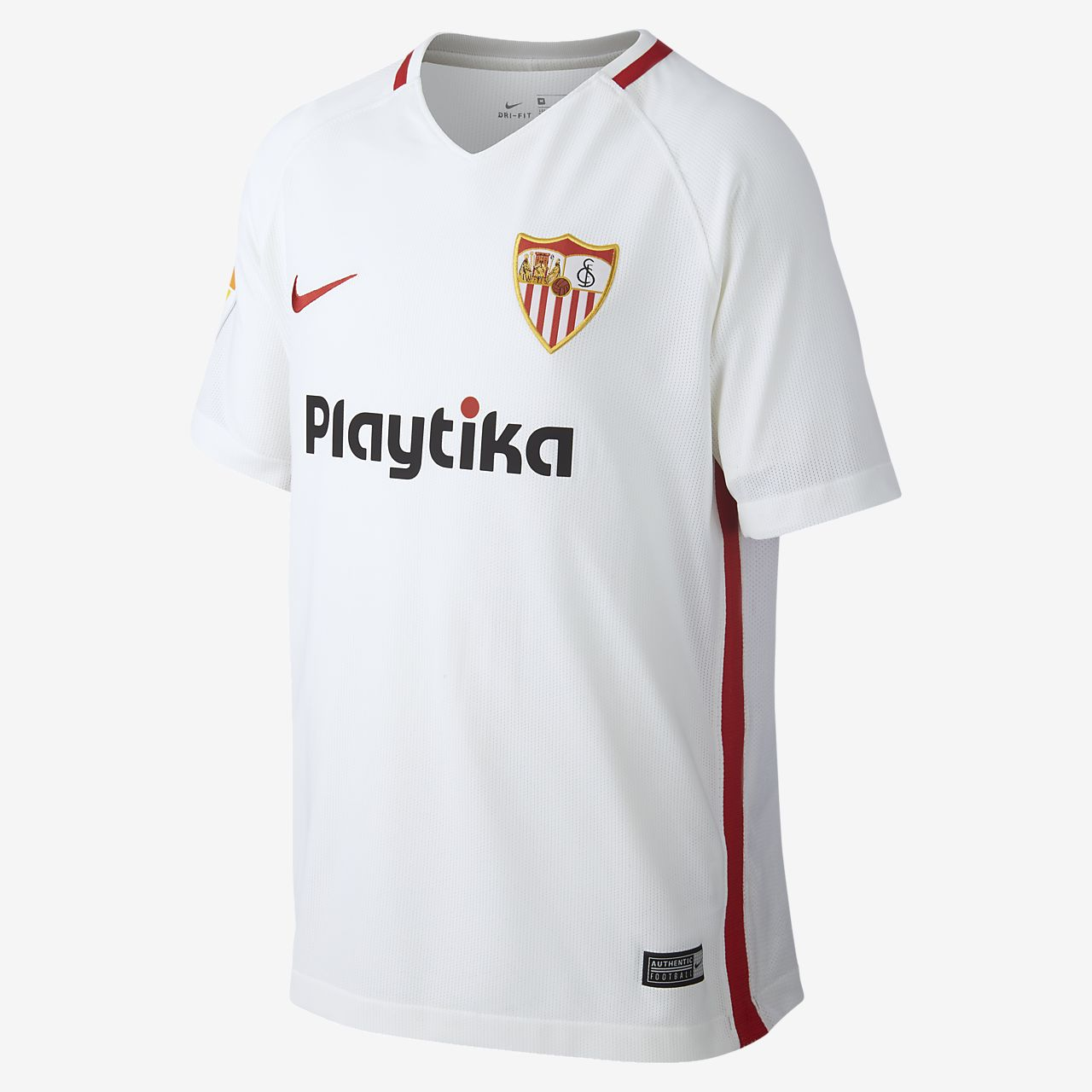 8715f70ed77ae 2018 19 Sevilla FC Stadium Kids  Football Shirt. Nike.com NL