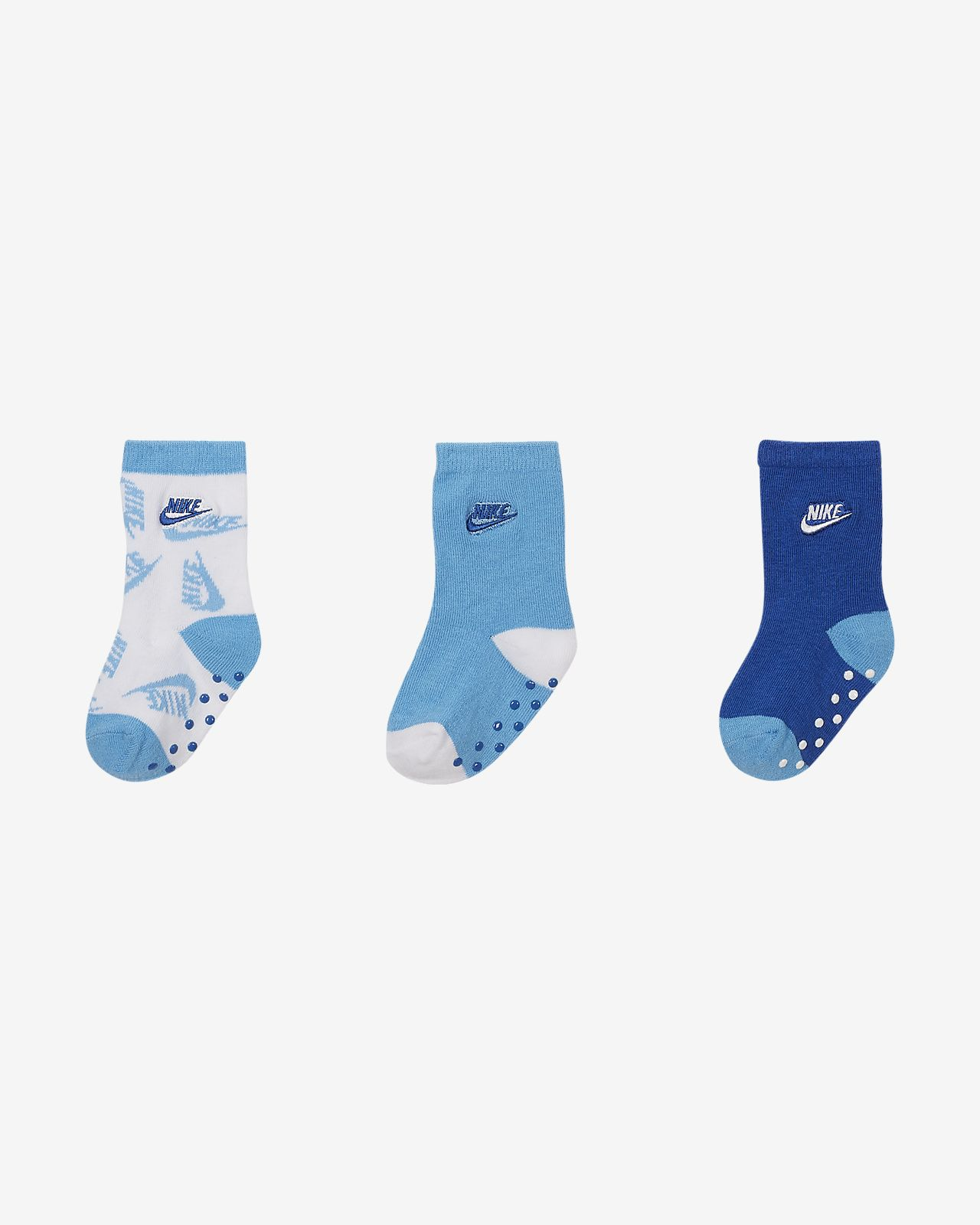 Nike Toddler Gripper Crew Socks (3-Pack)