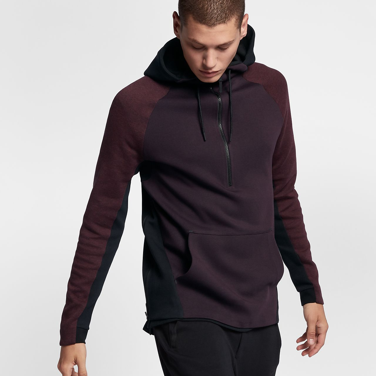 nike sportswear tech fleece men 39 s half zip hoodie au. Black Bedroom Furniture Sets. Home Design Ideas