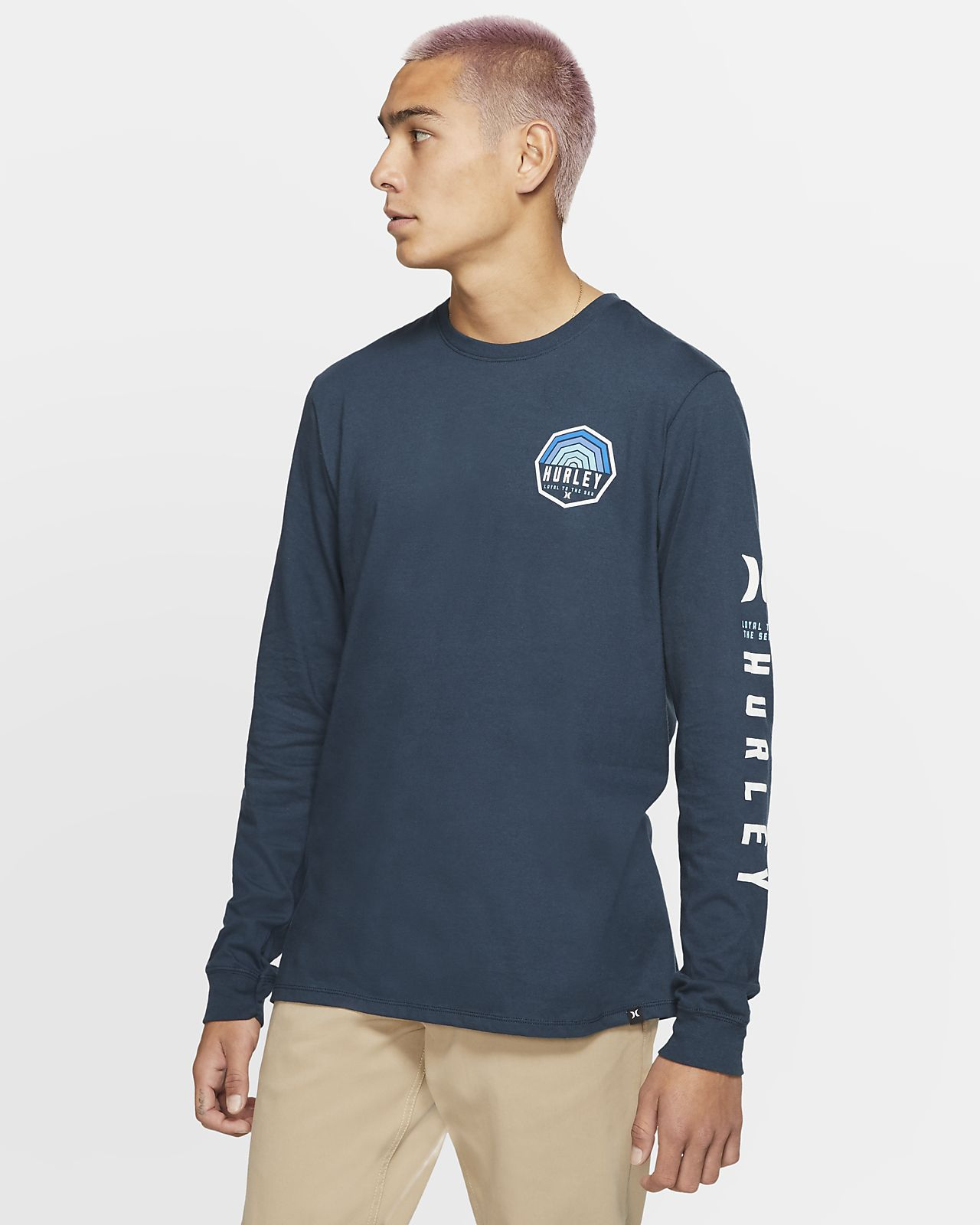 Hurley Premium Hexer Men's Long-Sleeve T-Shirt