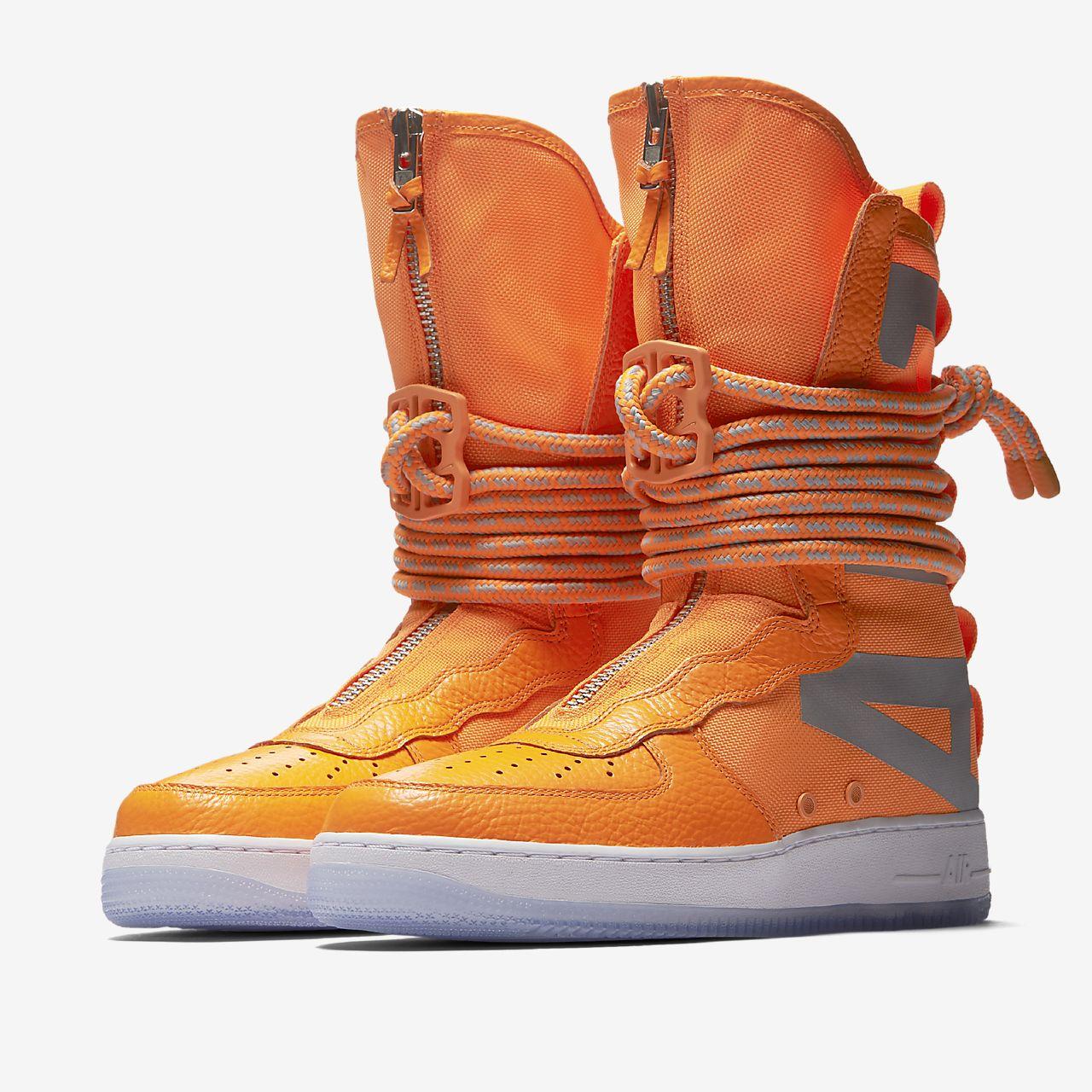 Nike SF Af1 Hi, Chaussures de Gymnastique Homme, Orange (Total Orange/Total Orange/White), 47.5 EU