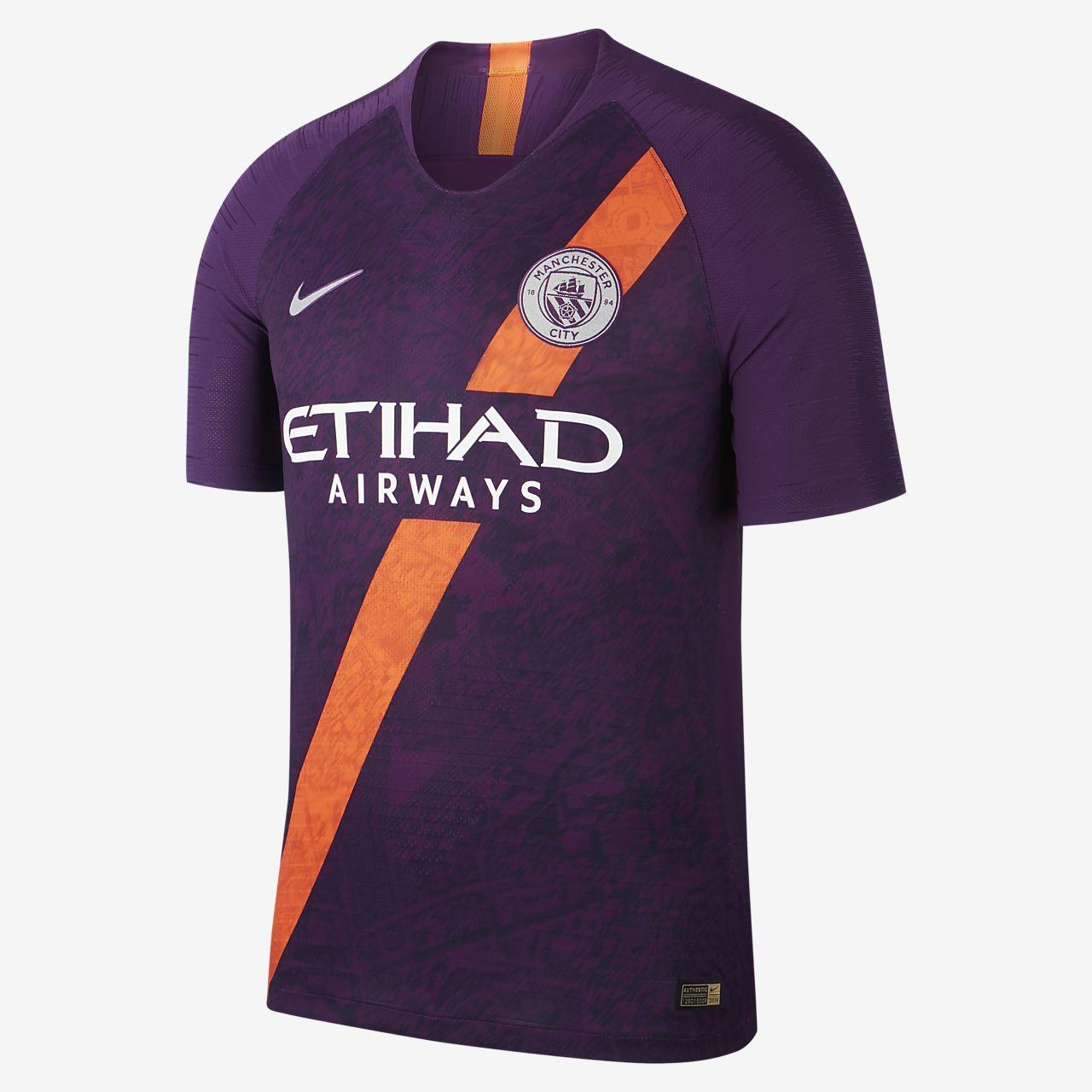 Camiseta de fútbol para hombre Manchester 2018/19 Manchester City FC Vapor Match Third
