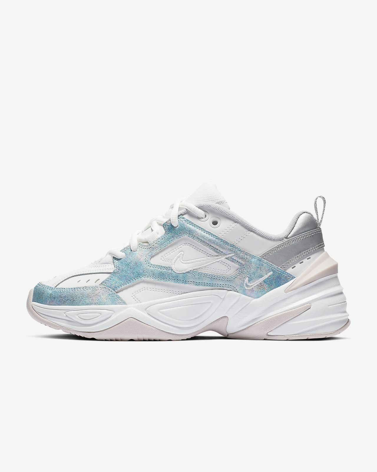 Nike Women's M2K Tekno (Summit White | Barely Rose | Metallic Silver)