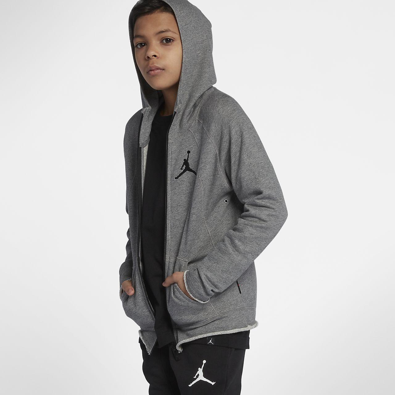 Felpa con cappuccio e zip a tutta lunghezza Jordan Sportswear Wings Lite - Ragazzo