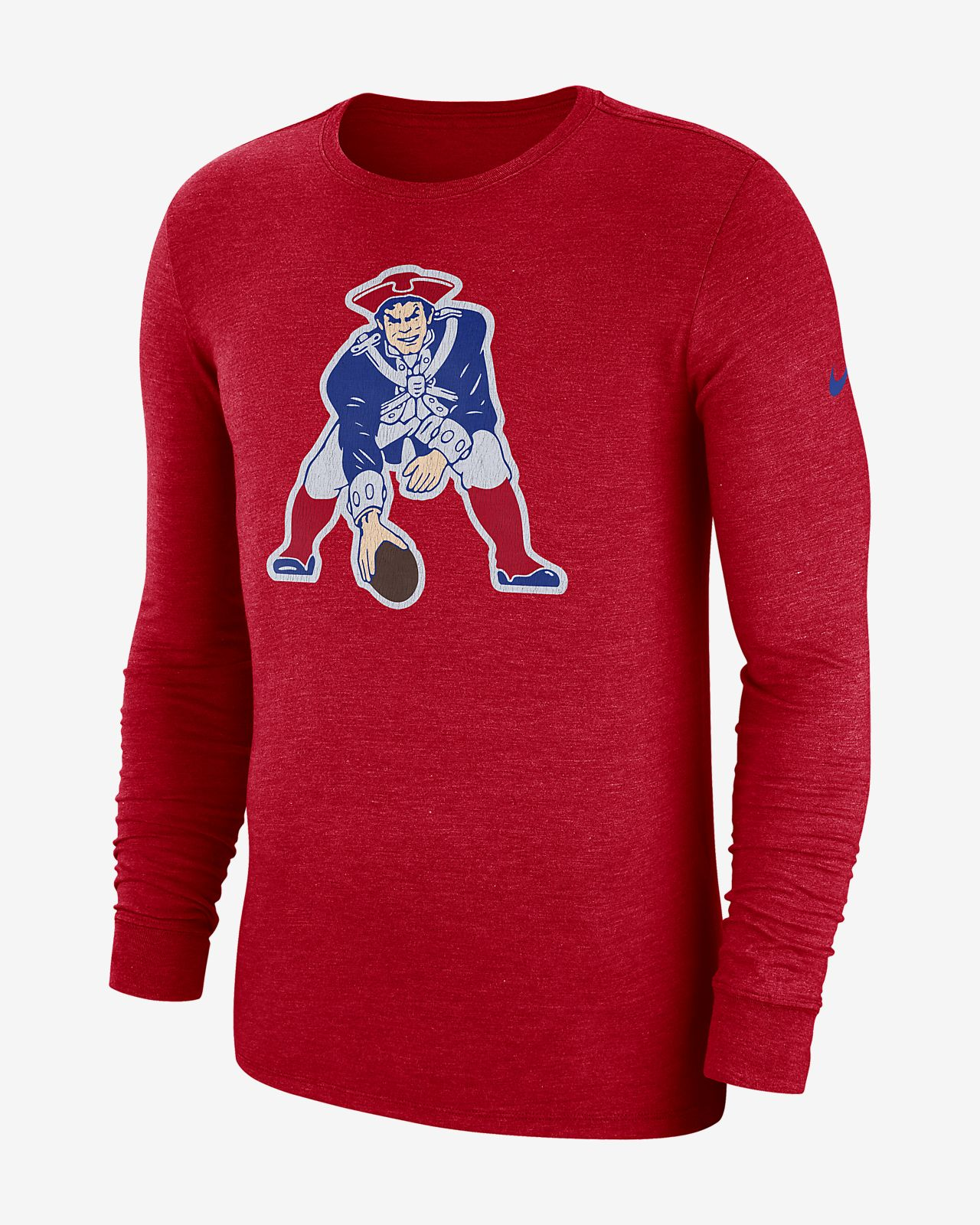 Nike (NFL Patriots) Men's Tri-Blend Long-Sleeve T-Shirt