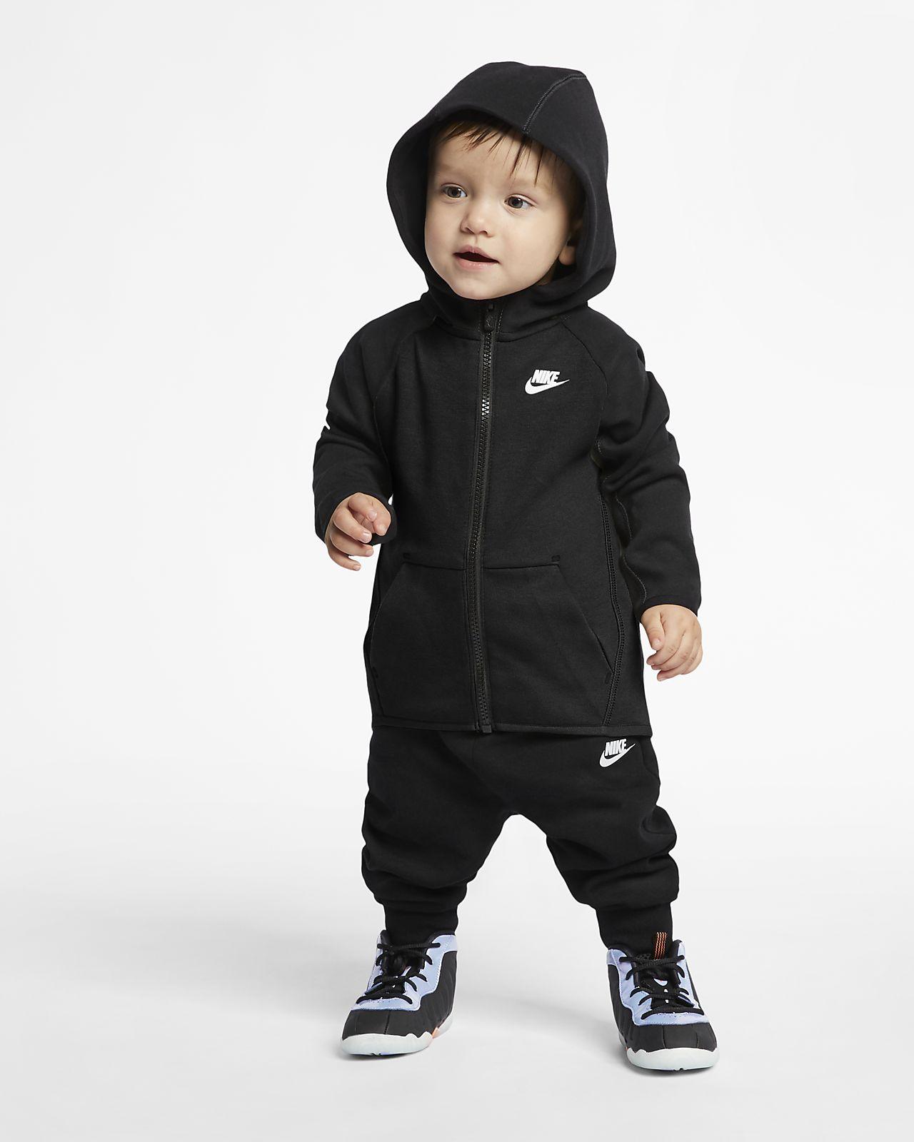 Σετ μπλούζα με κουκούλα και παντελόνι φόρμας Nike Sportswear Tech Fleece για βρέφη (12-24M)